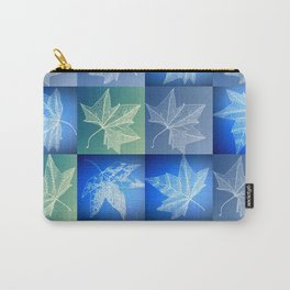 blue leaf drawings Carry-All Pouch