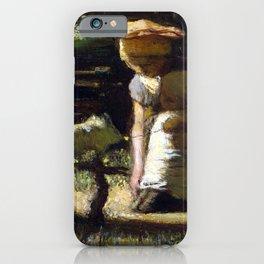 Matthijs Maris Getting acquainted (The little goat) iPhone Case