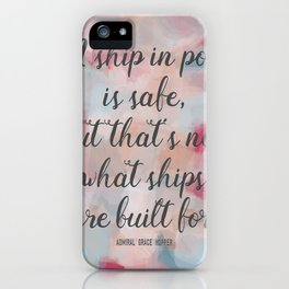 SAFE SHIP iPhone Case