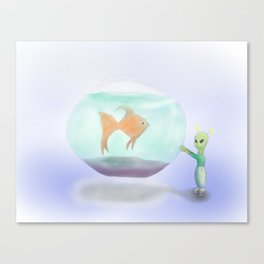Goldfish and Friend Canvas Print