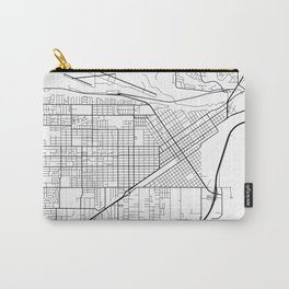 Billings Map, USA - Black and White Carry-All Pouch