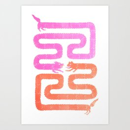 A Line Has Two Sides Art Print