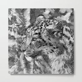 AnimalArtBW_Leopard_20170606_by_JAMColorsSpecial Metal Print