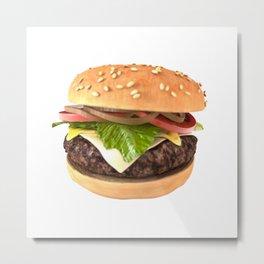 Hamburger 3D Render Metal Print