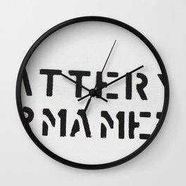 BATTERY ARMAMENT Wall Clock