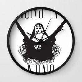 Guns 'n' Nuns Wall Clock