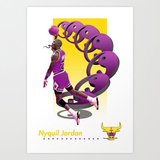 "Nyquil Jordan ""'91 '92 Trading Card"" Poster Art Print"