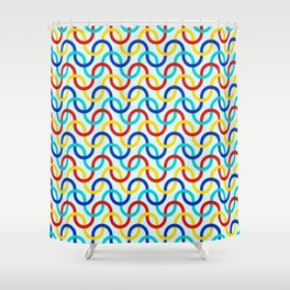 Party Wave Shower Curtain