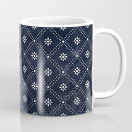 Blue Indigo Pattern Coffee Mug