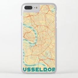 Dusseldorf Map Retro Clear iPhone Case