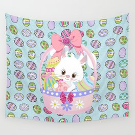 Easter Bunny Easter Basket Wall Tapestry