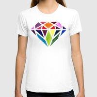 diamond T-shirts featuring Diamond by Bridget Davidson