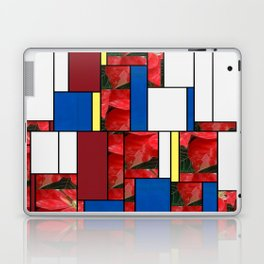 Mottled Red Poinsettia 1 Ephemeral Art Rectangles 4 Laptop & iPad Skin