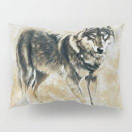 Timber Wolf Pillow Sham