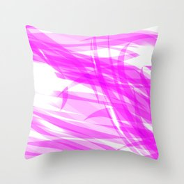 Pink and smooth sparkling lines of crimson ribbons on the theme of space and abstraction. Throw Pillow