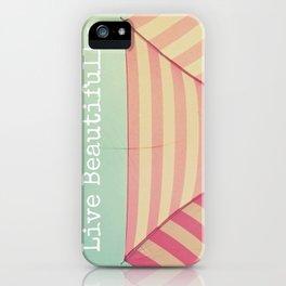 Pink Umbrella Aqua Sky iPhone Case