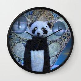 Panda's Coming Wall Clock