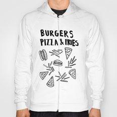 Burgers Pizza Fries in Pastel  Hoody
