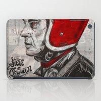 steve mcqueen iPad Cases featuring McQueen by EL GRAN TOCAYO