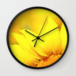 Sunflower love Flowers Flower Summer floral Wall Clock