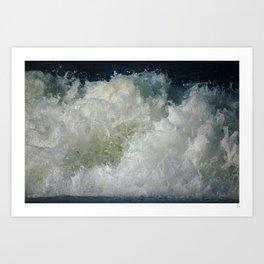 big waves, big splash Art Print