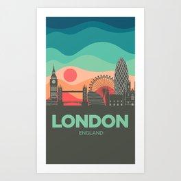 Vintage Travel: London Art Print