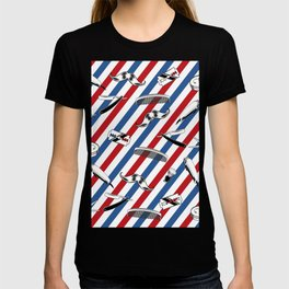 Barber Shop Pattern T-shirt