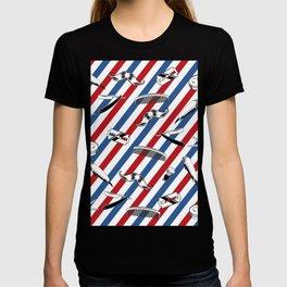 Barber Shop Pattern T-shirt