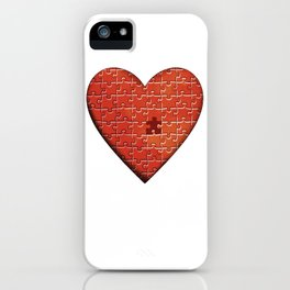 Puzzle Heart iPhone Case