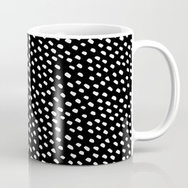 Brush Dot Pattern Black Coffee Mug