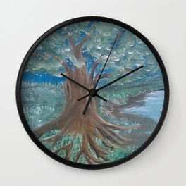 Tree by the Water Wall Clock