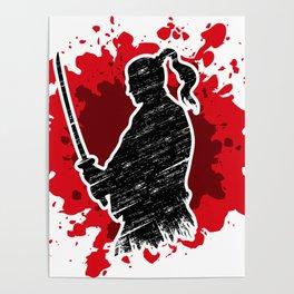 Samurai red Poster