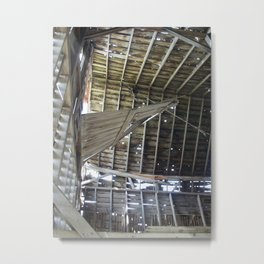 Up in the Rafters of an Abandoned Barn... Metal Print