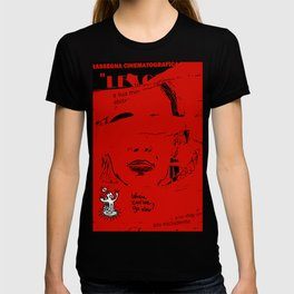 Italian Red Street Cinema Poster Graffiti Art T-shirt