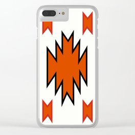 American Native Pattern No. 97 Clear iPhone Case