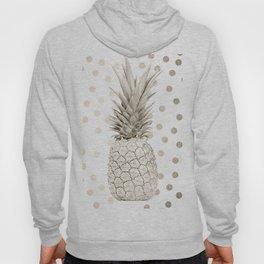 Gold Pineapple Polka Dots 1 Hoody