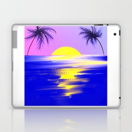 Tropical sunset design Laptop & iPad Skin