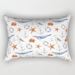 Watercolor nautical pattern Rectangular Pillow