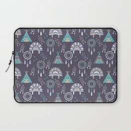Indian Pattern Purple Laptop Sleeve