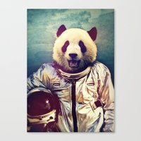 panda Canvas Prints featuring The Greatest Adventure by rubbishmonkey