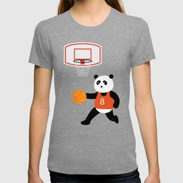 Play basketball with a panda T-shirt