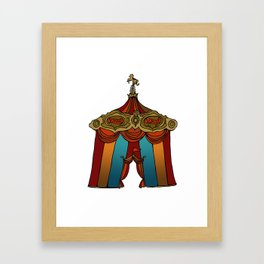Vintage Circus Big Top. Framed Art Print
