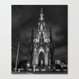 Night at the Monument Canvas Print