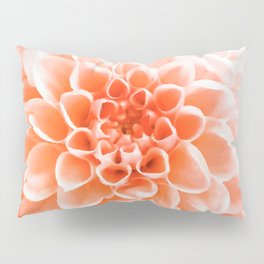 Digital Illustration of a Floral Bouquet with a Light Orange Chrysanthemum in the Centre Pillow Sham