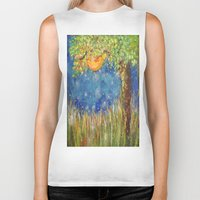 fireflies Biker Tanks featuring Fireflies by Debydear