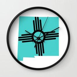 New Mexico Zia Wall Clock