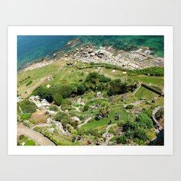 Sea Cliff Garden Art Print