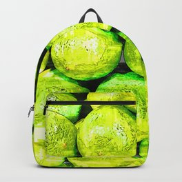 Bright Green Lime Pattern - For Fruit Lovers Backpack