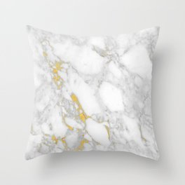 Marble Gold Session IV Throw Pillow