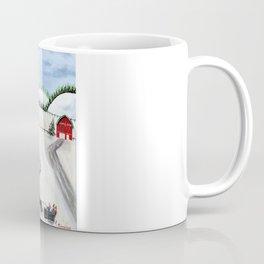 Hilly Horse-Drawn Sleigh Coffee Mug
